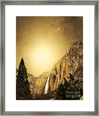 Free To Soar The Boundless Sky . Portrait Cut Framed Print by Wingsdomain Art and Photography