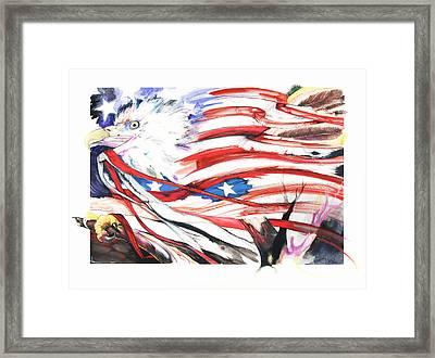 Freedom Framed Print by Anthony Burks Sr
