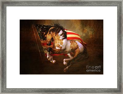 Freedom Run Framed Print by Shanina Conway