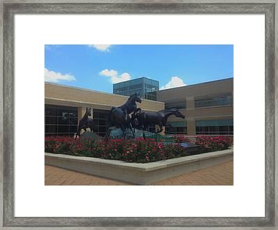 Freedom Sculpture Framed Print by Art Spectrum