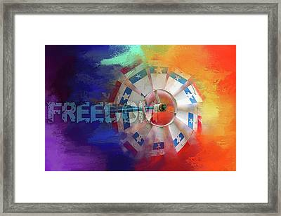 Freedom Framed Print by Terry Davis