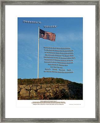 Freedom's Colors Framed Print by Patrick J Maloney
