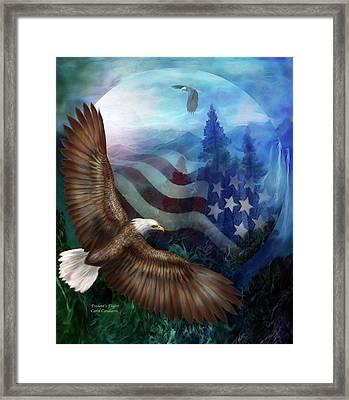 Freedom's Flight Framed Print by Carol Cavalaris