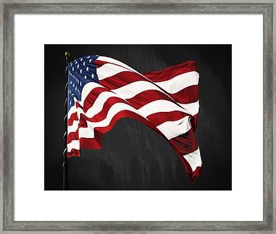 Freedoms Pride Framed Print by Steven  Michael