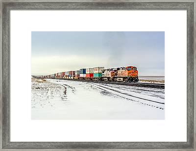 Freight Train Framed Print by Todd Klassy