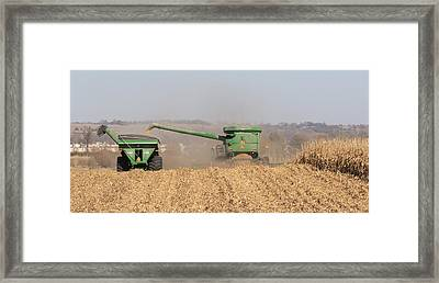 Fremont County Iowa Corn Harvest Framed Print by J Laughlin