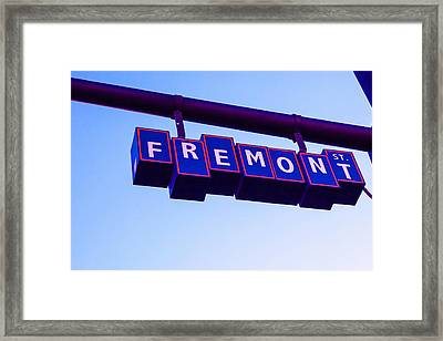 Fremont Street Framed Print by Art Block Collections