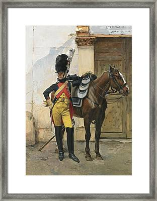 French An Elite Soldier Of The Imperial Guard Framed Print by MotionAge Designs