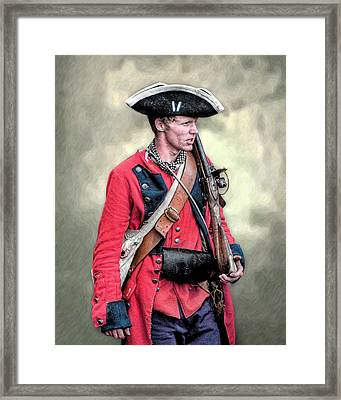 French And Indian War British Royal American Soldier Framed Print by Randy Steele