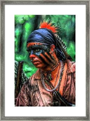 French And Indian War Indian Warrior Framed Print by Randy Steele