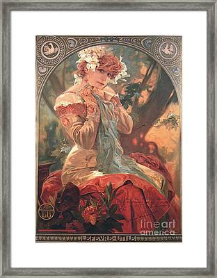French Biscuit Ad 1904 Framed Print by Padre Art