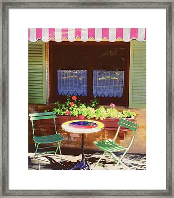 French Bistro In Napa Valley Framed Print by George Oze