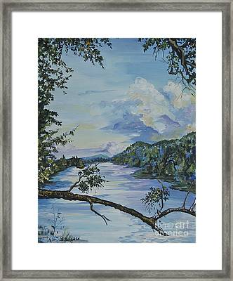 French Broad At Biltmore Estates Nc Framed Print by Johnnie Stanfield