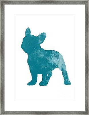 French Bulldog Fine Art Illustration Framed Print by Joanna Szmerdt