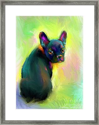 French Bulldog Painting 4 Framed Print by Svetlana Novikova