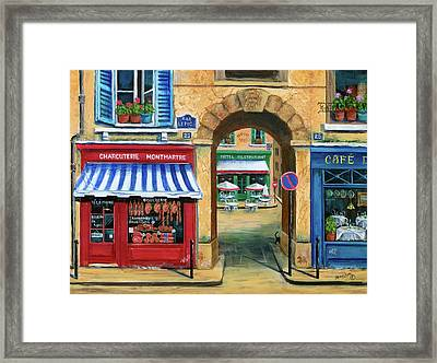 French Butcher Shop Framed Print by Marilyn Dunlap