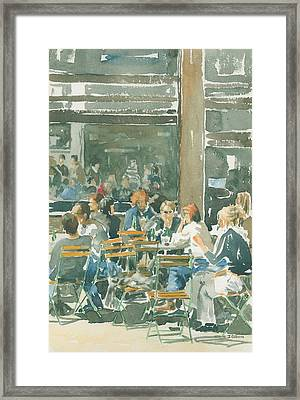 French Cafe Scene  Framed Print by Ian Osborne