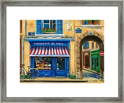 French Cheese Shop Framed Print by Marilyn Dunlap