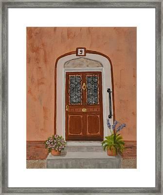 French Door Number Nine  Framed Print by Nancy Otey