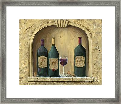 French Estate Wine Collection Framed Print by Marilyn Dunlap