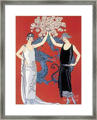 French Fashion, George Barbier, 1924 Framed Print by Science Source