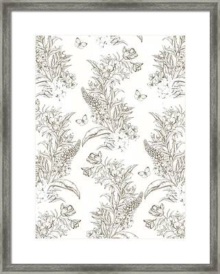 French Floral With Butterflies Framed Print by Stephanie Davies