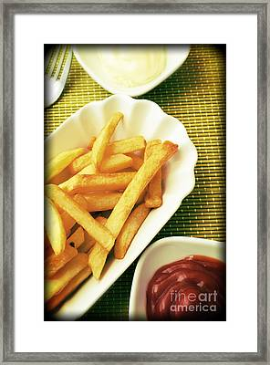 French Fries Framed Print by Andreas Berheide