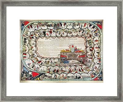 French Game Board, 1791 Framed Print by Granger