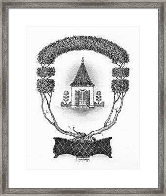 French Garden House Framed Print by Adam Zebediah Joseph