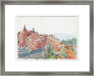 French Hill Top Village Framed Print by Tilly Strauss