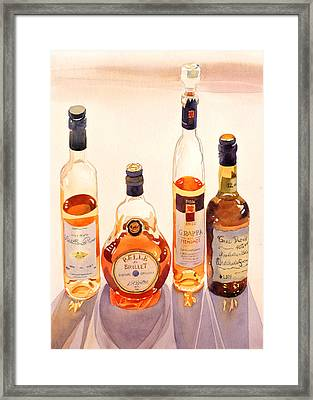 French Liqueurs Framed Print by Mary Helmreich