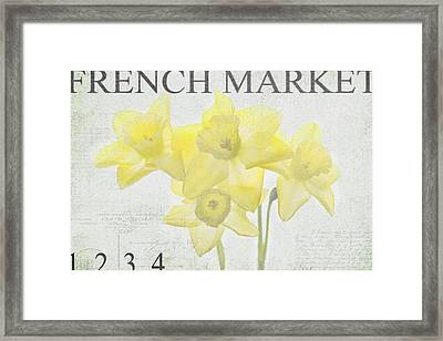 French Market Series C Framed Print by Rebecca Cozart