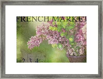 French Market Series M Framed Print by Rebecca Cozart