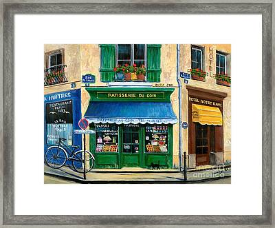 French Pastry Shop Framed Print by Marilyn Dunlap