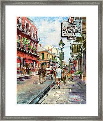 French Quarter Antiques Framed Print by Dianne Parks