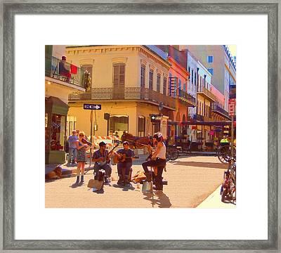 French Quarter Day Framed Print by Kathy Bassett