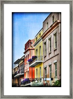 French Quarter In Summer Framed Print by Tammy Wetzel