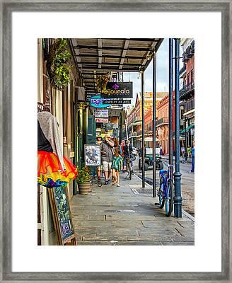 French Quarter Sidewalk Framed Print by Steve Harrington