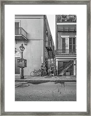 French Quarter Trio Monochrome  Framed Print by Steve Harrington