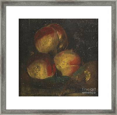 French Still Life With Three Framed Print by Gustave Courbet