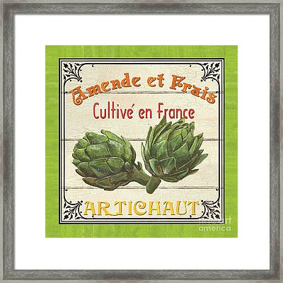 French Vegetable Sign 2 Framed Print by Debbie DeWitt