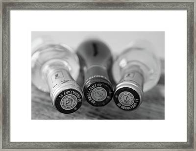 French Wine Bottles Framed Print by Georgia Fowler