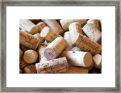 French Wine Corks Framed Print by Georgia Fowler