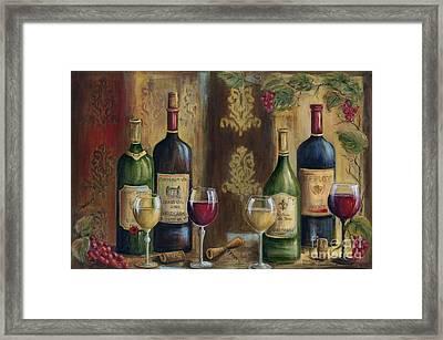 French Wine Tasting Framed Print by Marilyn Dunlap