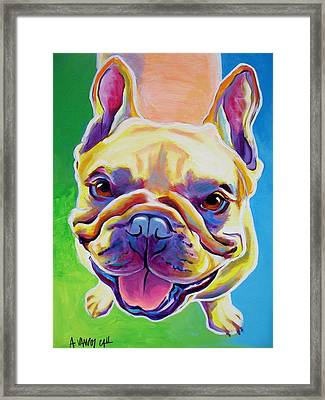 Frenchie - Ernest Framed Print by Alicia VanNoy Call