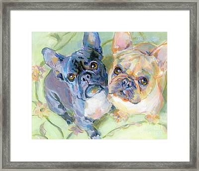 Frenchies Framed Print by Kimberly Santini