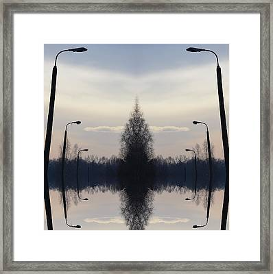 Frequency Framed Print by Anna Lis