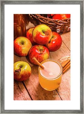 Fresh Apple Juice With Cinnamon Framed Print by Jorgo Photography - Wall Art Gallery