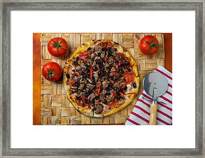 Fresh Baked Pizza Framed Print by Garry Gay