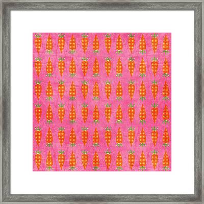 Fresh Carrots Framed Print by Linda Woods